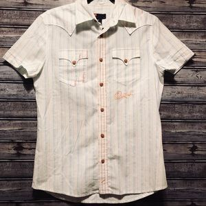 Diesel button up short sleeve shirt